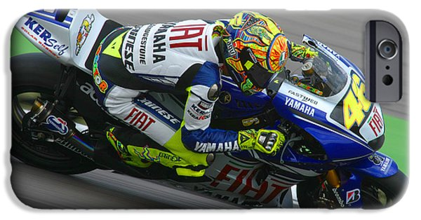 Casey iPhone Cases - Valentino Rossi iPhone Case by Henk Meijer Photography