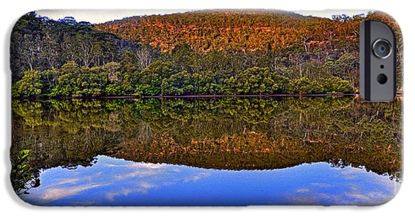 Reflections Of Sky In Water iPhone Cases - Valley of Peace iPhone Case by Kaye Menner