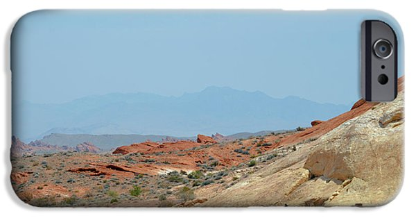 Red Rock Tapestries - Textiles iPhone Cases - Valley on Fire iPhone Case by Edna Weber