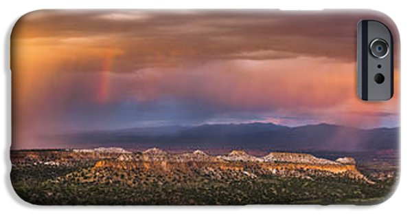 Drama iPhone Cases - Valley Storm iPhone Case by Phillip Noll Raven Mountain Images