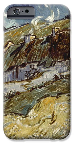 VAN GOGH: COTTAGES, 1890 iPhone Case by Granger