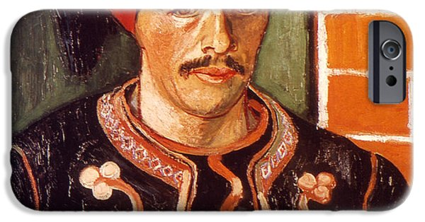 Fez iPhone Cases - Van Gogh: The Zouave, 1888 iPhone Case by Granger