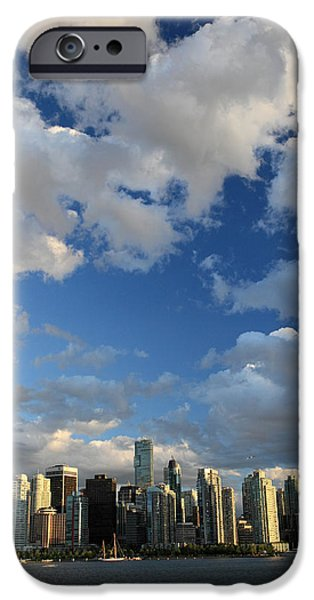 Vancouver city at sunset iPhone Case by Pierre Leclerc Photography