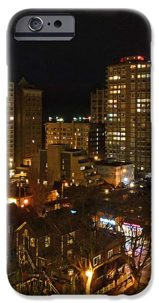 Vancouver Skyline iPhone Case by Nancy Harrison