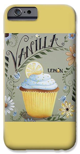 Vanilla Lemon Cupcake iPhone Case by Catherine Holman