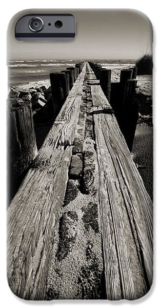 Vanishing iPhone Cases - Vanishing Point Folly Beach iPhone Case by Dustin K Ryan
