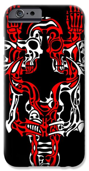 Crucifix Drawings iPhone Cases - Vanity 1 iPhone Case by David Umemoto