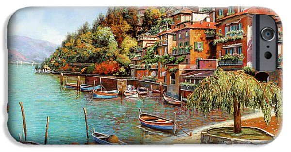 Shadow iPhone Cases - Varenna on Lake Como iPhone Case by Guido Borelli