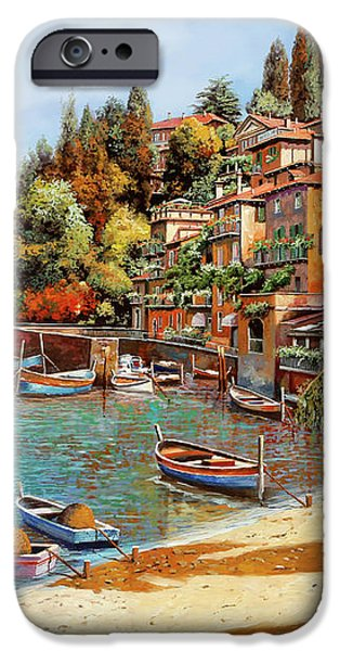 Varenna on Lake Como iPhone Case by Guido Borelli