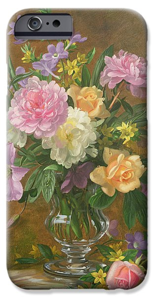 Tasteful Art iPhone Cases - Vase of Flowers iPhone Case by Albert Williams