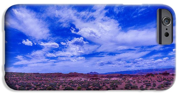 Grand Canyon iPhone Cases - Vast Desert Sky iPhone Case by Garry Gay