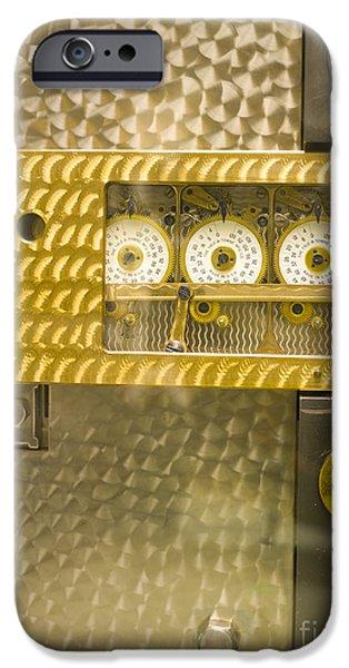 Vault Door Timing Device iPhone Case by Adam Crowley