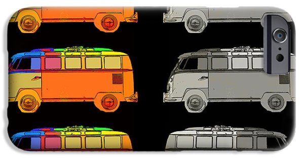 Colorful Abstract Photographs iPhone Cases - VDub Surfer Bus Series iPhone Case by Edward Fielding
