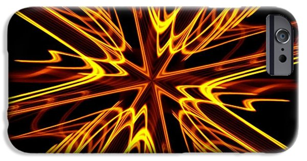 Fractal iPhone Cases - Vectoring The Neon iPhone Case by David Dunham