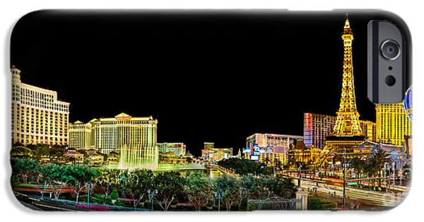 Traffic Sign iPhone Cases - Vegas Splendor  iPhone Case by Az Jackson