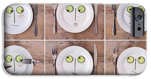 Fun Photographs iPhone Cases - Vegetable Faces iPhone Case by Nailia Schwarz