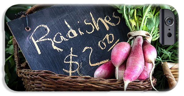 Farmstand iPhone Cases - Vegetables Radishes iPhone Case by Betty Denise