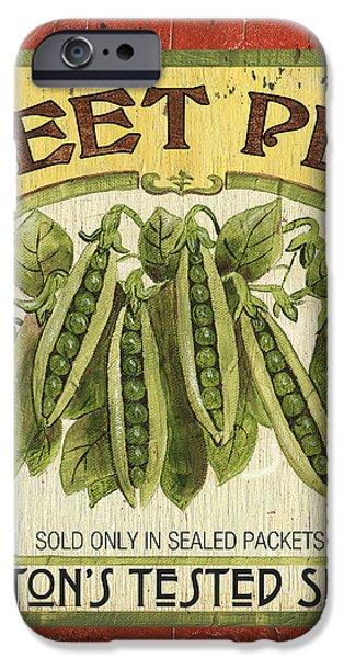 Veggie Seed Pack 1 iPhone Case by Debbie DeWitt