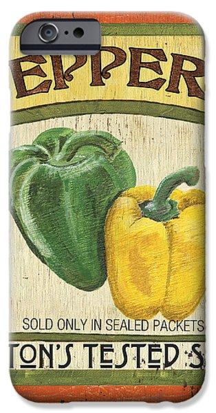 Veggie Seed Pack 2 iPhone Case by Debbie DeWitt