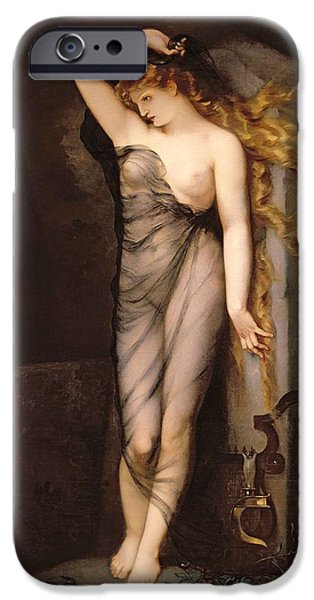 Pagan iPhone Cases - Velleda iPhone Case by Charles Voillemot