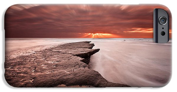 Beach Landscape iPhone Cases - Velocity iPhone Case by Jorge Maia