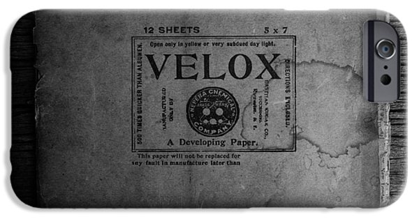 Sensitive iPhone Cases - Velox Developing Paper Antique Paper iPhone Case by Edward Fielding