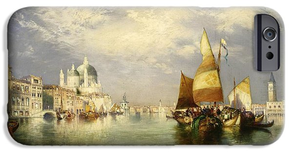 Venetian Canals iPhone Cases - Venetian Grand Canal iPhone Case by Thomas Moran
