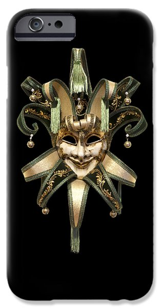 Close Up iPhone Cases - Venetian mask iPhone Case by Fabrizio Troiani