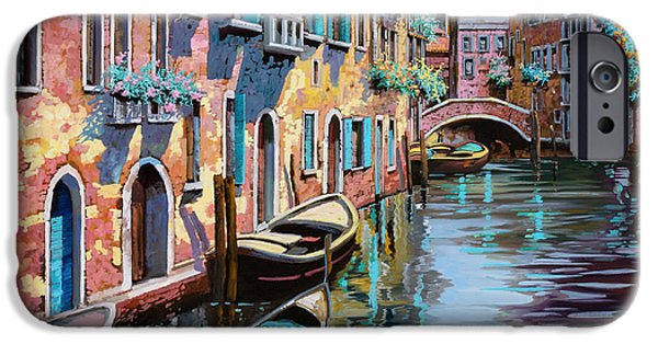 Venice iPhone Cases - Venezia In Rosa iPhone Case by Guido Borelli