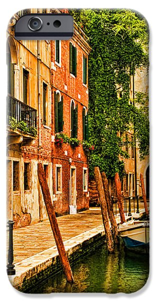 Venice Alley iPhone Case by Mick Burkey