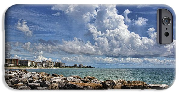 Buildings iPhone Cases - Venice Beach Florida by H H Photography of Florida iPhone Case by HH Photography of Florida