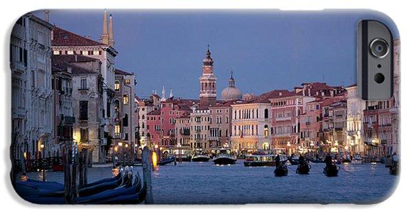Koehrer-wagner_heiko iPhone Cases - Venice Blue Hour 2 iPhone Case by Heiko Koehrer-Wagner