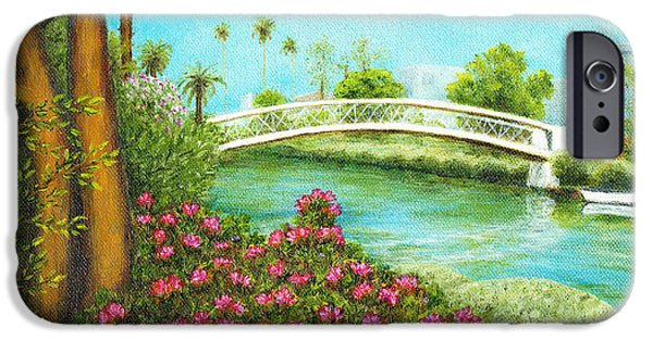 White House iPhone Cases - Venice Canals Springtime iPhone Case by Jerome Stumphauzer