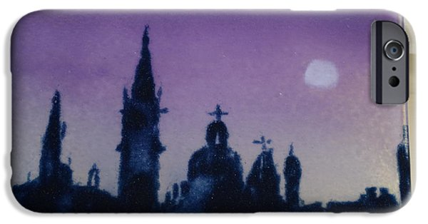 Moon Glass Art iPhone Cases - Venice in the Moonlight iPhone Case by Rosalind Duffy