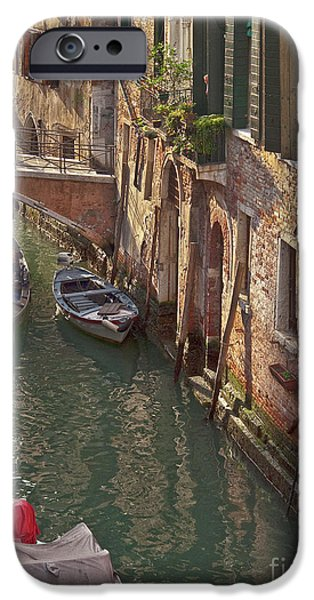 Venice ride with gondola iPhone Case by Heiko Koehrer-Wagner