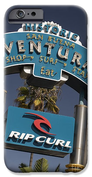 Ventura California iPhone Cases - Ventura iPhone Case by David Bearden