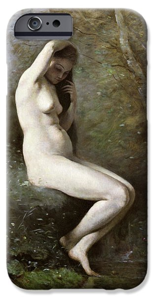 1796 iPhone Cases - Venus Bathing iPhone Case by Jean Baptiste Camille Corot