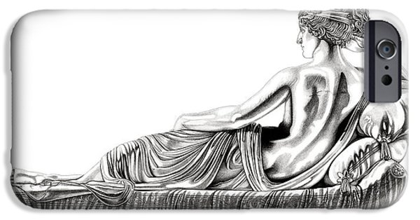 European Sculptures iPhone Cases - Venus Victorious _ V1 iPhone Case by Bruce Algra
