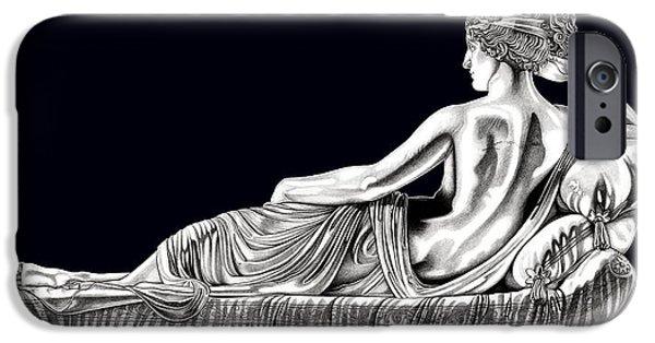 European Sculptures iPhone Cases - Venus Victorious _ V3 iPhone Case by Bruce Algra