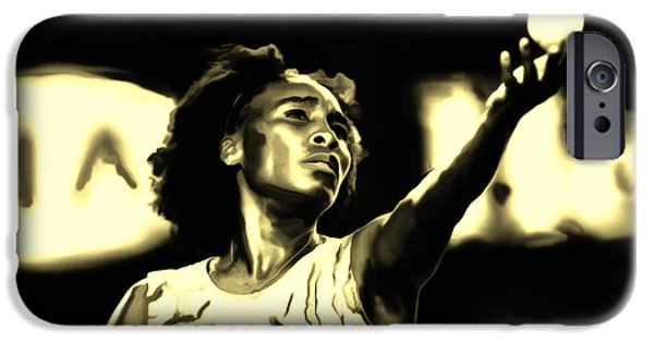 Wta iPhone Cases - Venus Williams Match Point iPhone Case by Brian Reaves