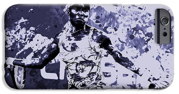 French Open iPhone Cases - Venus Williams Stay Focused iPhone Case by Brian Reaves