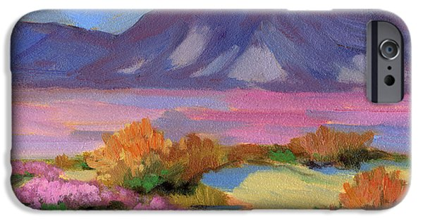 Dunes Paintings iPhone Cases - Verbena 1 iPhone Case by Diane McClary