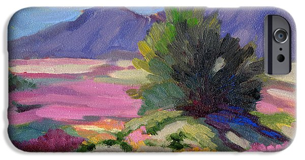 Dunes Paintings iPhone Cases - Verbena 2 iPhone Case by Diane McClary