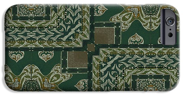Patterns Paintings iPhone Cases - Verdant iPhone Case by Mindy Sommers