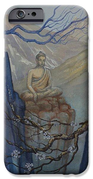 Tibetan Buddhism iPhone Cases - Verge of Absolute iPhone Case by Yuliya Glavnaya