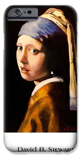 David iPhone Cases - Vermeers Girl With A Pearl Earring iPhone Case by David Stewart