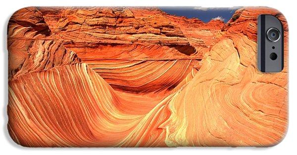 The Plateaus iPhone Cases - Vermilion Cliffs Landscape iPhone Case by Adam Jewell
