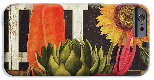 Rural Art iPhone Cases - Vermont Farms Vegetables iPhone Case by Mindy Sommers