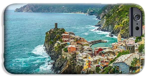 Boat iPhone Cases - Vernazza, Cinque Terre, Liguria, Italy iPhone Case by JR Photography