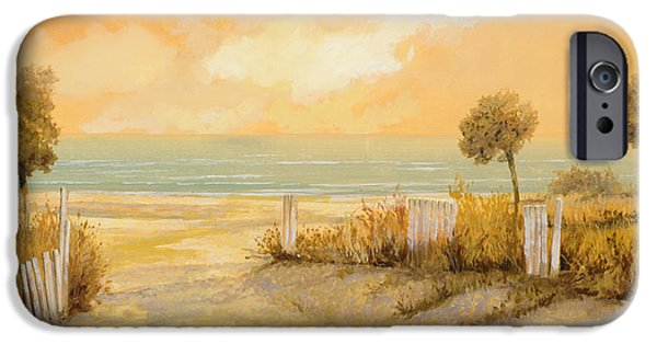 Seascape iPhone Cases - Verso La Spiaggia iPhone Case by Guido Borelli